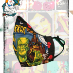 Fifi's Rockabilly MEDIUM Reversible, Adjustable Vintage monster print/ cherry face mask with filter layer & — fifis (Copy) (Copy)