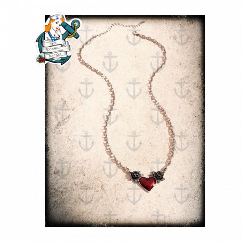 Bad heart necklace