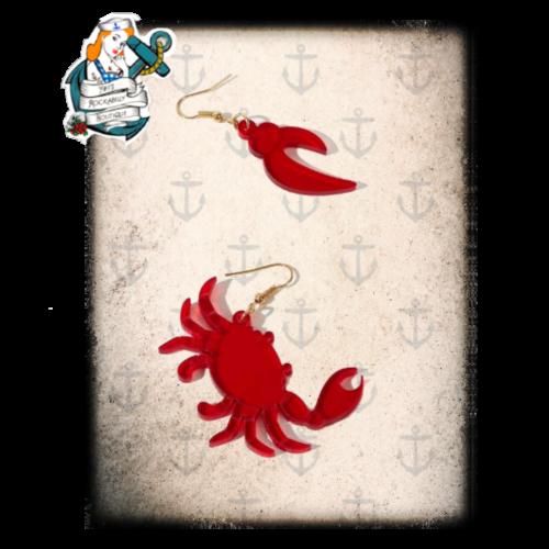 Cheeky crab  earrings