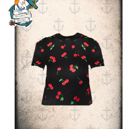 """Fifis Rockabilly """"wild cherry"""" top (2 colours available )"""
