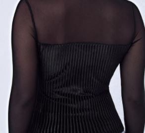 Fifi's Rockabilly Curvy Pinups black sweetheart velvet top
