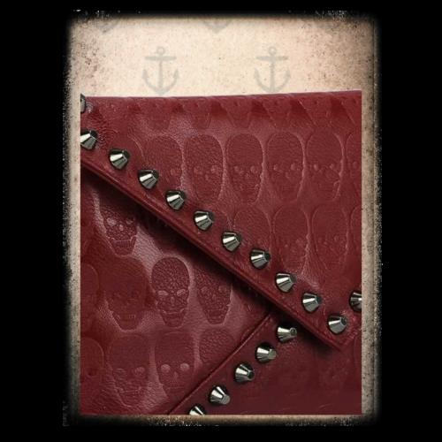 Skull embossed studded bag 2 options ( Red & Grey)