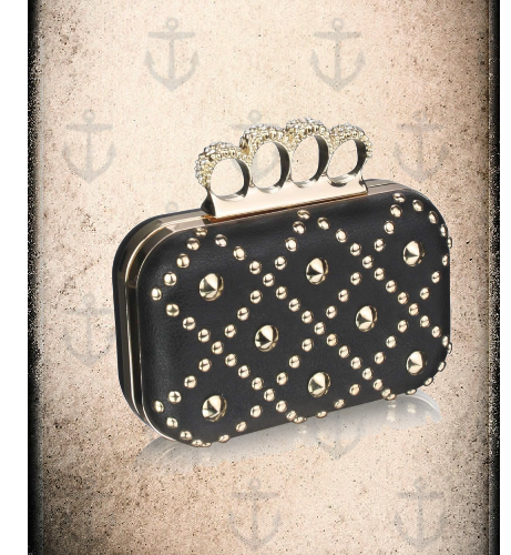 two tone  cross over clutch bag  2 colour options ( black & Navy)