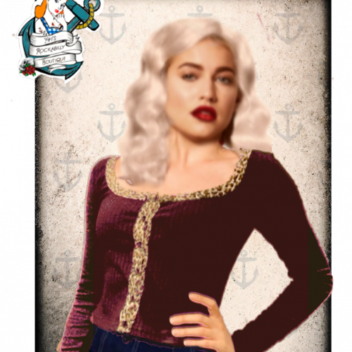 Fifi's Rockabilly boutique wild thing cardigan top ( 5 colours)