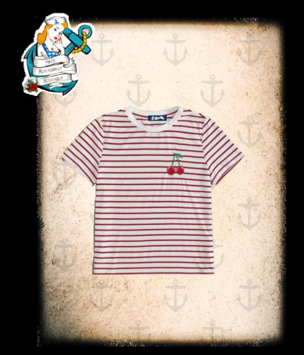 """Fifi's Rockabilly """"Sailor Cherry"""" t shirt"""