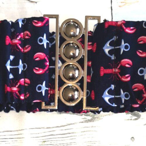 "Fifi's rockabilly ""lobsters & anchors"" navy rockabilly belt XS-S"
